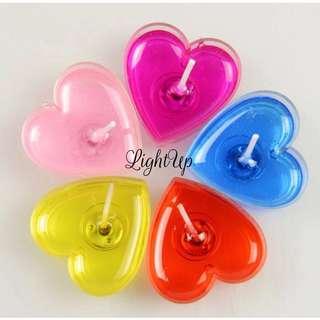 情人節禮物心型小蠟燭