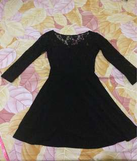 Dress brokat hitam