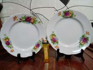 COLOURFUL FLOWERS PLATE SET