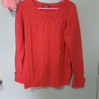 High collar collar thick sweater knit sweater coat