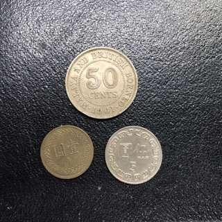 3 Vintage Coins