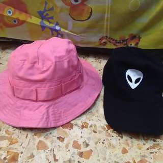 Bucket hat & Topi alien