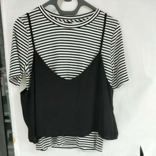 BEGA Two places striped top