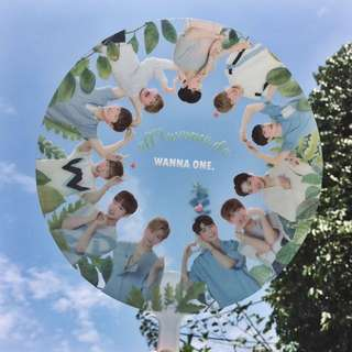[READY STOCK WITH FREE POS] Wanna One Transparent Fan Set