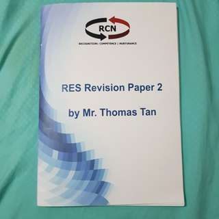 PRELOVED RES REVISION PAPER 2 BOOK