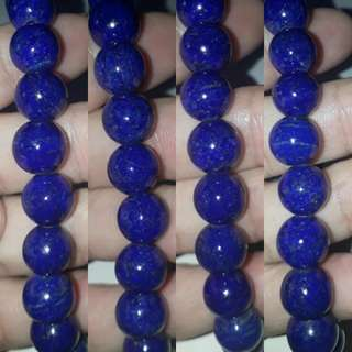 Very nice*AAA grade Lapis Lazuli Bracelet. 20pcs x 10mm beads. For Sale.