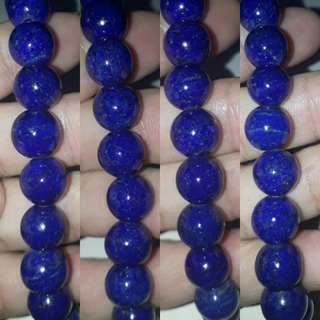 Very nice*AAA grade Lapis Lazuli Bracelet. 20pcs x 10mm beads. For Sale.
