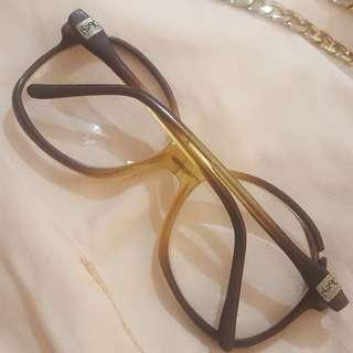 YSL Yves Saint Laurent Vintage Eyeglasses..having 2 Flaws Crack Frame