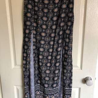 Preloved Boho Double Split Skirt