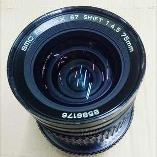 SMC Pentax 75/4.5 Shift Lens ( Pentax 67 Mount )