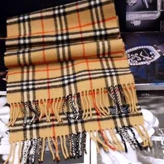 BURBERRY經典格紋流蘇圍巾