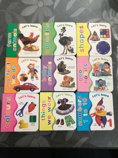 幼兒 兒童 學習硬皮書 the first learning books baby kids