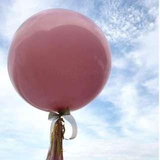 Helium Balloon - 36 Inch Pink Plain Balloon