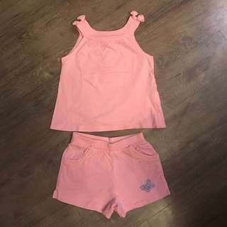 Mothercare top and shorts set for 3-6 months