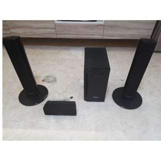 Panasonic speakers & subwoofer