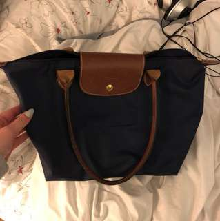Longchamp Small Navy Bag