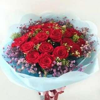 Flower Bouquet∕Hand Bouquet∕Birthday Bouquet∕Anniversary Bouquet∕Proposal Bouquet - 1DC56