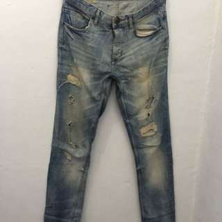 Zara original broken denim