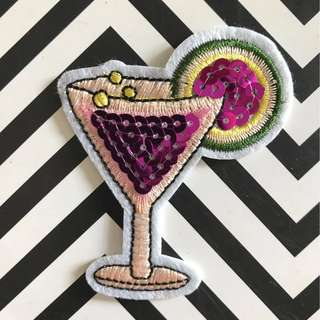 Bn sequins cocktail iron on patch