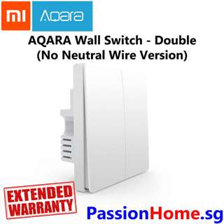 Aqara Wall Switch Double Gang - no need neutral wire (Passion Home)