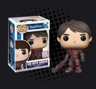 FUNKO POP - TROLLHUNTERS - JIM WITH RED ARMOR 2017 FALL CONVENTION EXCLUSIVE