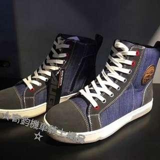 🚚 美國AUGI時尚車靴 AU4  AU-4 Denim Urban 車靴 休閒短車靴 買就加送手套 潮牌流行  牛仔布藍色