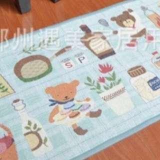 Doormat Kitchen bear blue