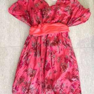 Red nursing dress