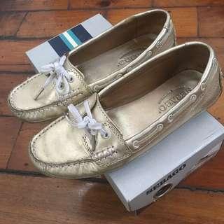 Sebago Bala Gold/Metallic Loafer Boat Shoes