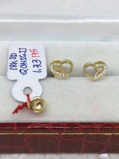 18k golds studs earring