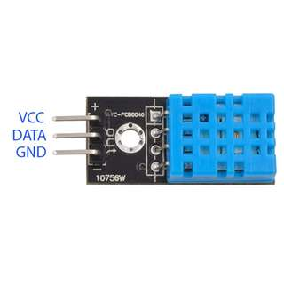 Temperature Humidity Sensor Module(DHT11) Three jump Wires are included