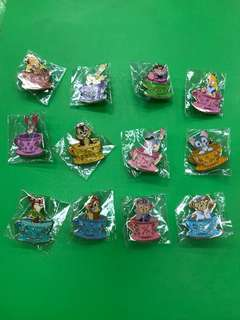 Disney Tea Cup Pin (一套12個,不散賣)