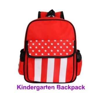 Kids Kindergarten School Stars Stripes Backpack Bag