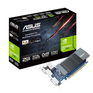 BNIB - ASUS GeForce GT 710 2GB GDDR5 HDMI VGA DVI Graphics Card(GT710-SL-2GD5-BRK)