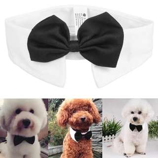 Adjustable Dog Neckties Bow Collar Pet