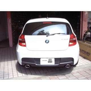 一品排氣管BMW120-F20-F21尾飾管雙邊單出完工價