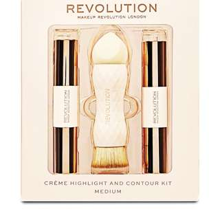 Makeup Revolution Crème Highlight and Contour Kit - Medium (PREORDER PO SPREE RESTOCKING)