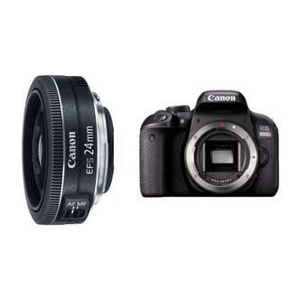 Canon EOS 800D DSLR Camera with Canon EF-S 24mm f/2.8 STM Lens