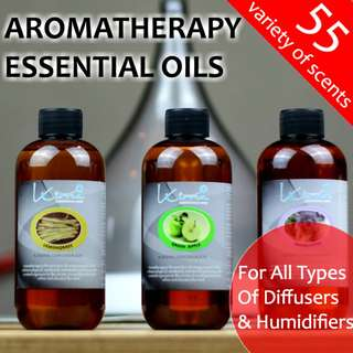 Aromatherapy Essential Oils For Diffusers & Humidifiers. 55 Scents to choose from. 30ML/120ML/250ML Water Soluble Essential Oil