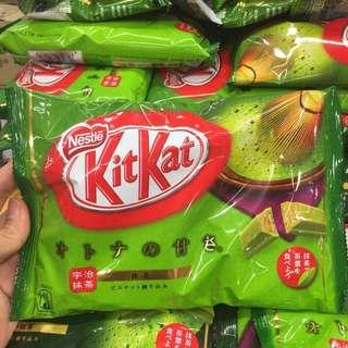 Kitkat greentea latte dan greentea biasa
