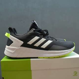 Sepatu adidas questar grey core orange ORIGINAL
