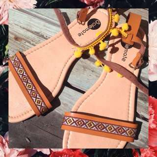 Aztec-inspired Sandals (size 8)