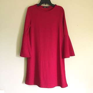 Bershka red dress