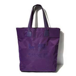 Coach large open tote bag with tag