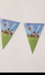 Paw patrol small flags/bunting/party decor