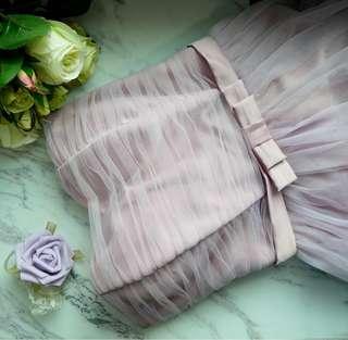 Bridesmaids Dress/Off shoulder/Tube Dress/Lace