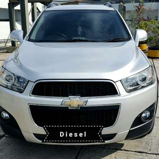 Chevrolet captiva Diesel FL 2.0 at 2013 silver antik