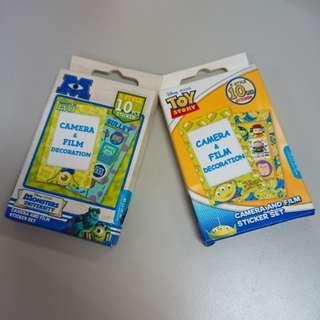 拍立得底片外框裝飾貼紙 怪獸大學 怪獸電力公司 玩具總動員 香港購入 全新