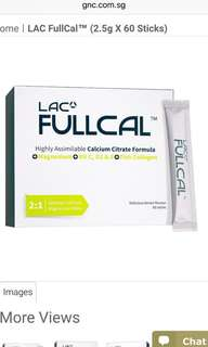 Gnc LAC FullCal calcium citrate collagen powder sachets pleasant taste, even on its own.