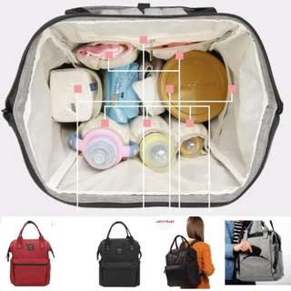 00396 Multi-function Mummy Daddy Large-capacity Diaper Backpack